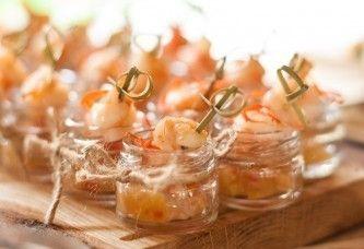 САДко Сatering Креветка-гриль с ананасом, манго и красным перцем
