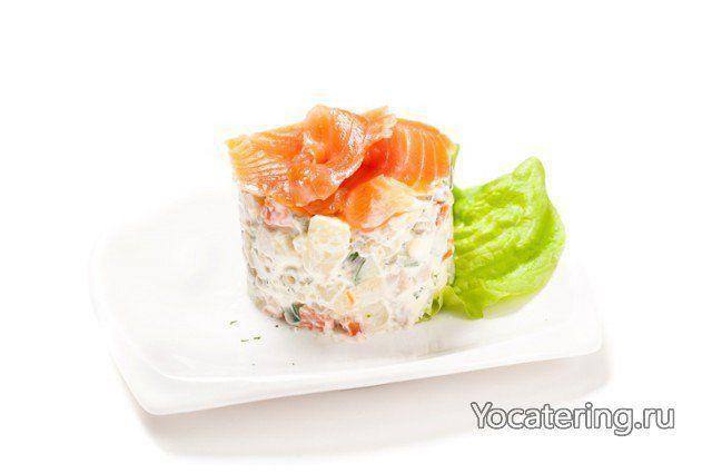 ёКейтеринг Салат «Оливье» с лососем