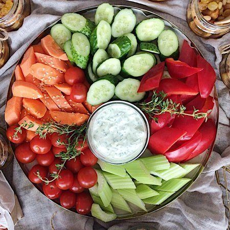Bankatering Поднос с овощами и дзадзики