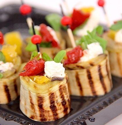 Ministerstvo Catering Company Рулет из баклажан с мягким сыром и вяленым томатом