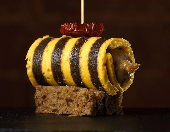 Профессор Пуф Мини-колбаски ручной работы из индюшки в яично-грибном блинчике