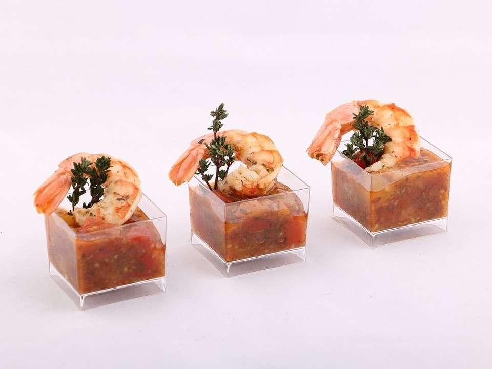 Guzfood Кейтеринг Канапе из креветки в томатном соусе