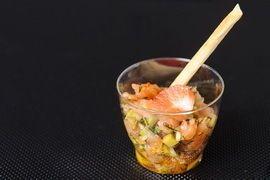 Lotus Project Тар-тар из лосося с авокадо
