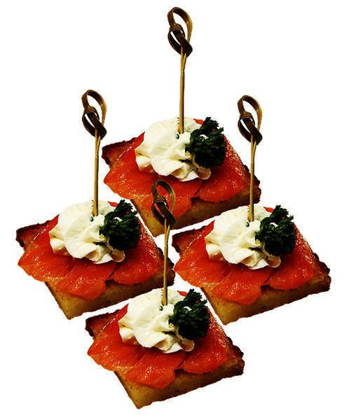 МосФуршет Канапе с копченым лососем