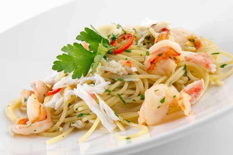 Лимончино Спагетти с камчастким крабом