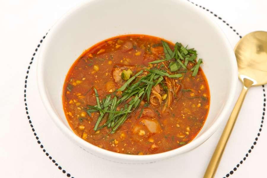 Тажин Пряный суп с красной фас...