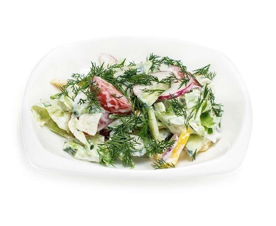 Добрый грузин Овощной салат «4 Сезона» со сметаной
