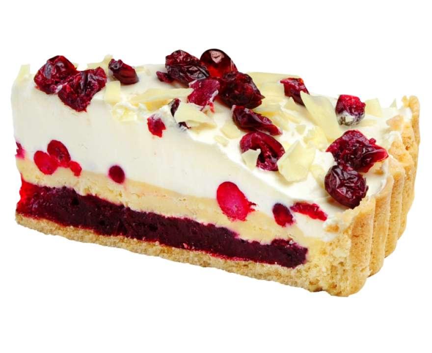 Добрый грузин Брусничный кремовый пирог с белым шоколадом