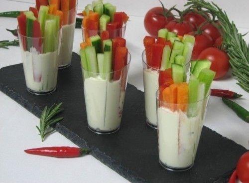 Villaggio fest Крудите из овощей с сырным соусом
