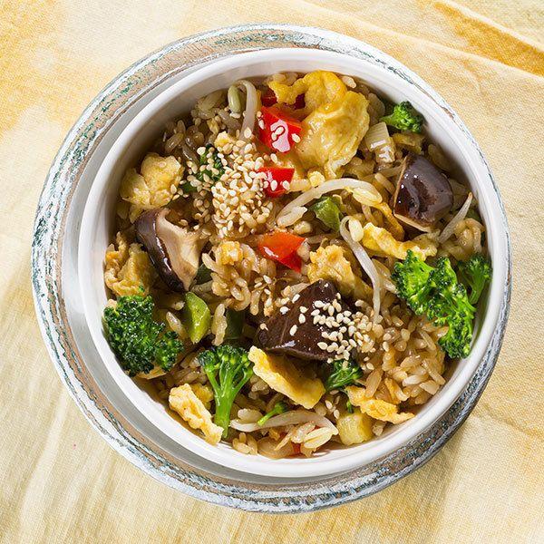 Ваби Саби Теппаньяки рис с овощами