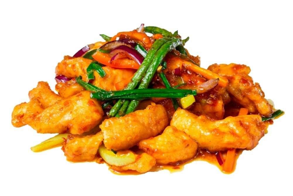 Aziana Острый лосось с овощами