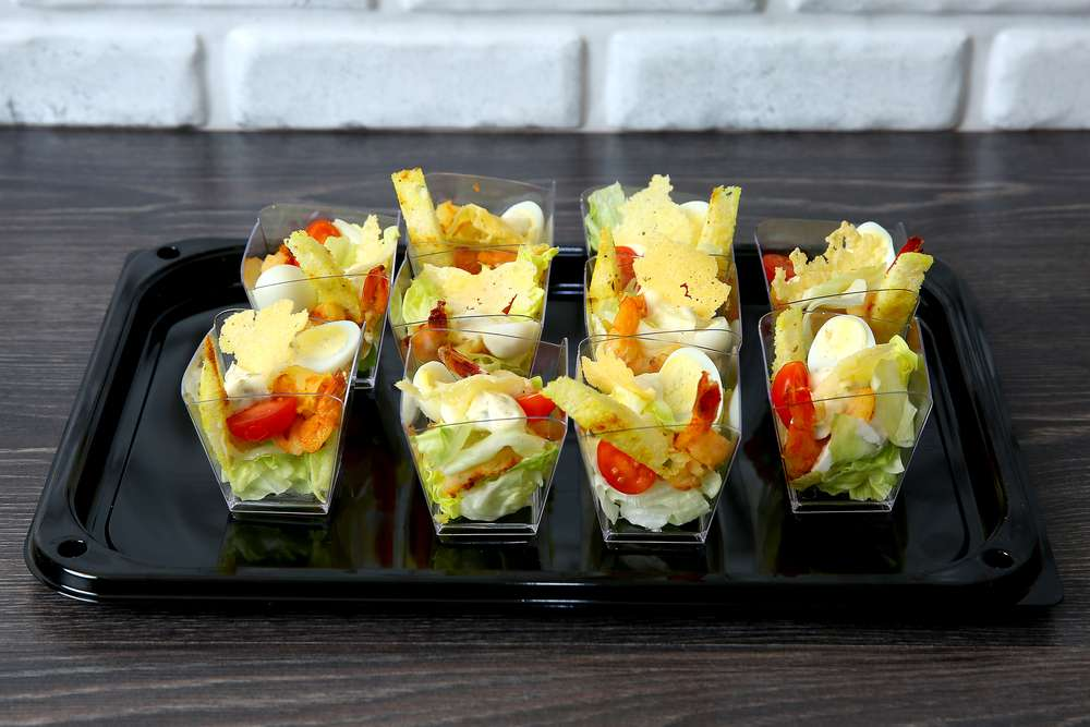 Лаборатория Вкуса Салат Цезарь с креветками