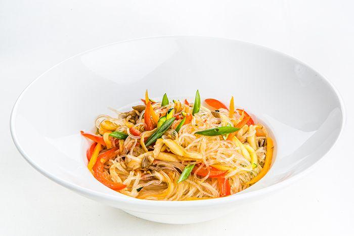 Андерсон «Стеклянная» лапша фунчоза с овощами и вешенками в устричном соусе