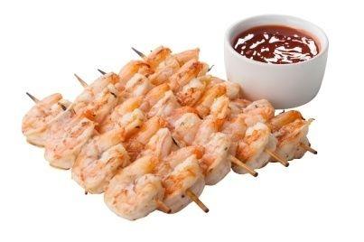 Арт Нуво Кейтеринг Шашлычок из тигровых креветок со сладким соусом чили