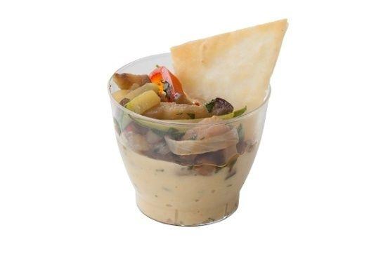 Арт Нуво Кейтеринг Хумус с овощами Wok гренкой из лаваша