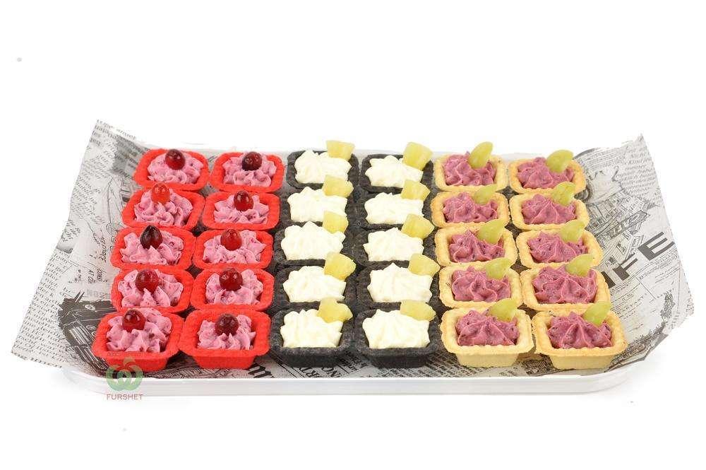Assorty Furshet Ассорти тарталеток с фруктово-ягодными муссами