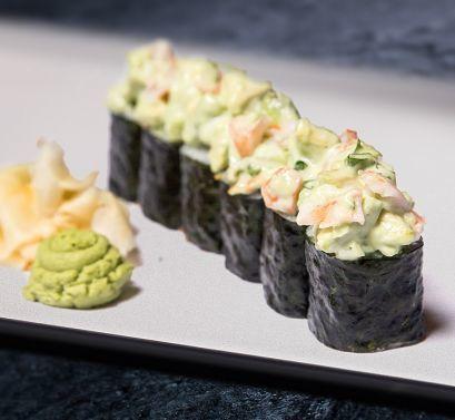 Sticks Sushi Bar Ролл с авокадо, креветкой соусом васаби