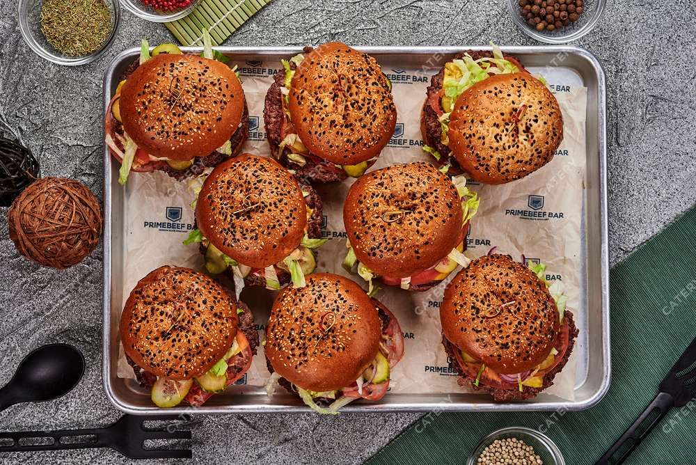 Primebeef Bar Платтер с чизбургерами