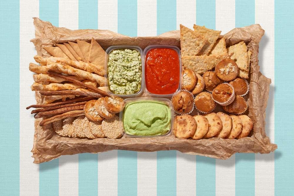 Parus Catering Большая коробка с дипами и печеньем