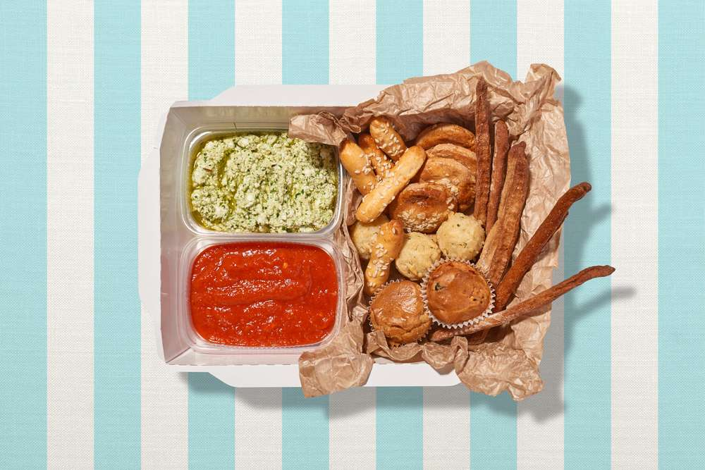 Parus Catering Коробка с дипами и печеньками Прованс
