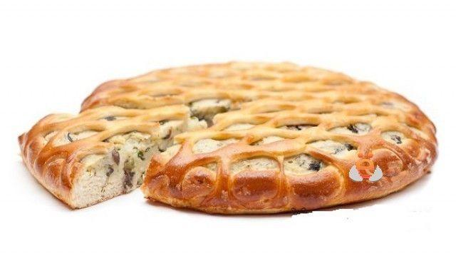 ёКейтеринг Пирог с грибами и картофелем