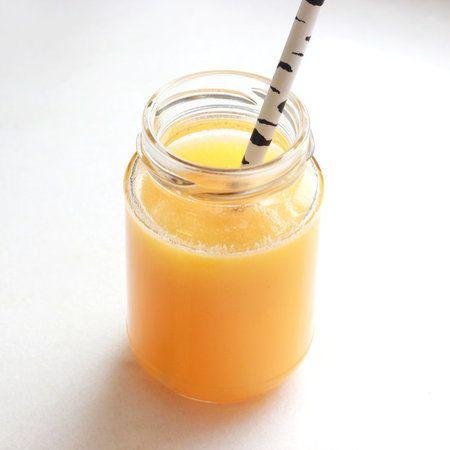 Bankatering Свежевыжатый апельсиновый сок в баночке с трубочкой