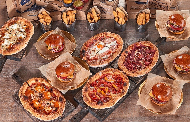Бургеры и пиццетта